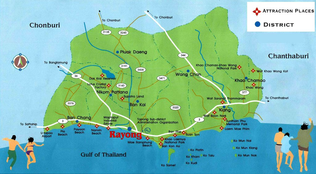 Rayong location map online information guide